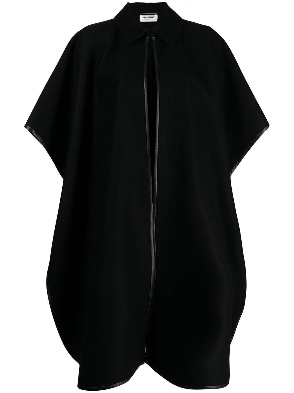Picture of Saint Laurent   Contrast-Trim Mid-Length Coat