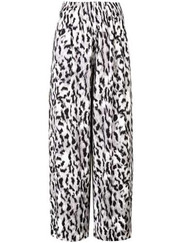 Picture of Norma Kamali | Printed Palazzo Trousers