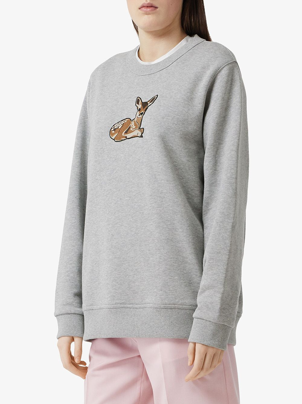 Picture of Burberry | Deer-Motif Jumper