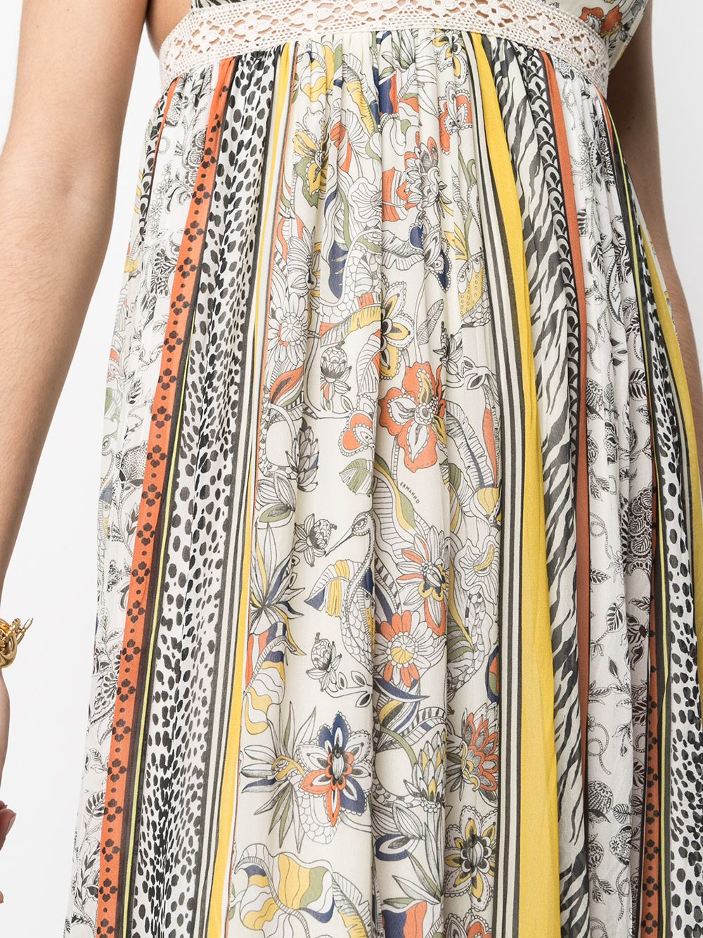 Picture of Ermanno Ermanno | Mix-Print Midi Dress