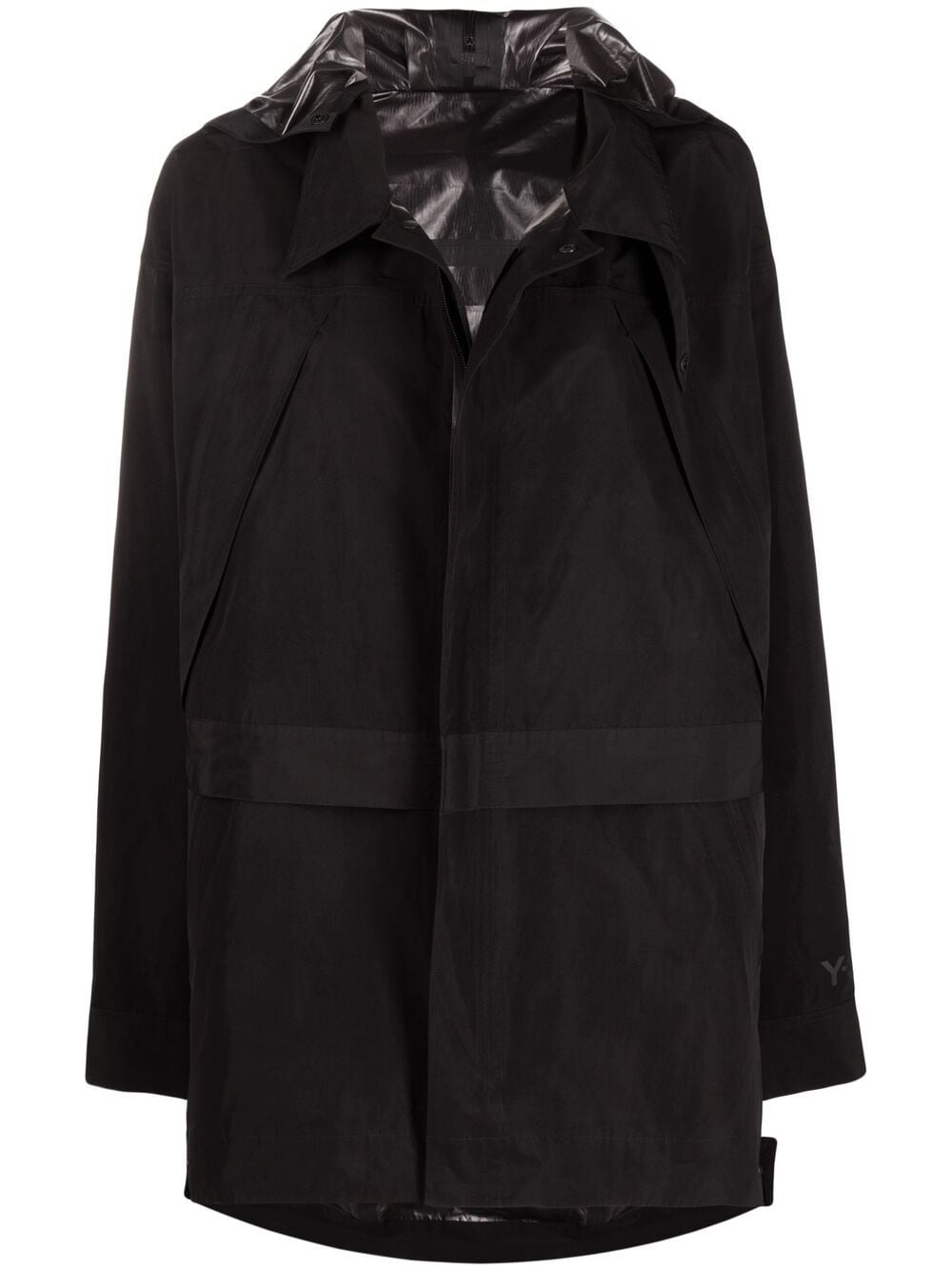 Picture of Adidas Y-3 | Dorico Zipped-Hood Parka Coat