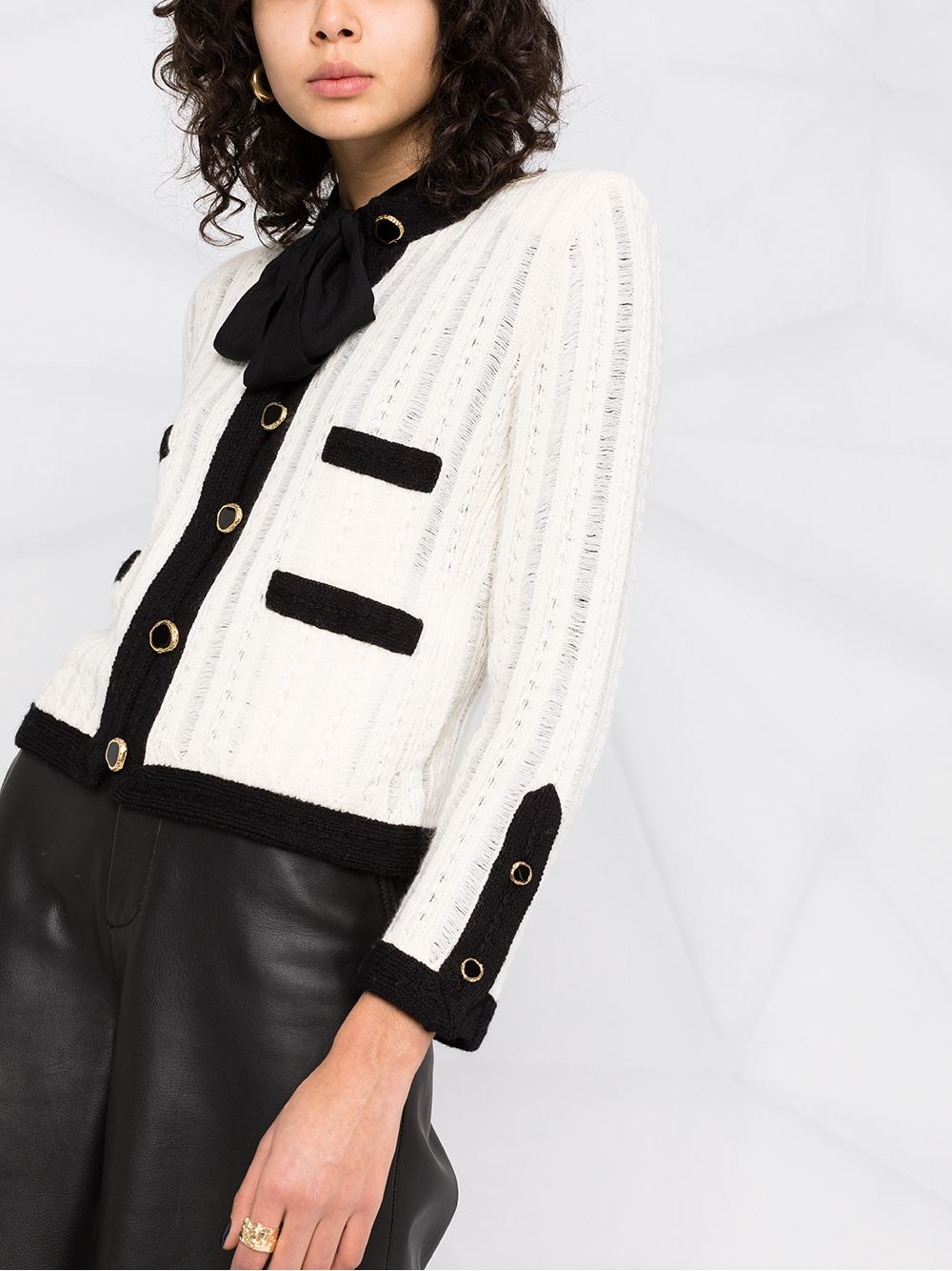Picture of Saint Laurent   Knitted Button-Up Cardigan