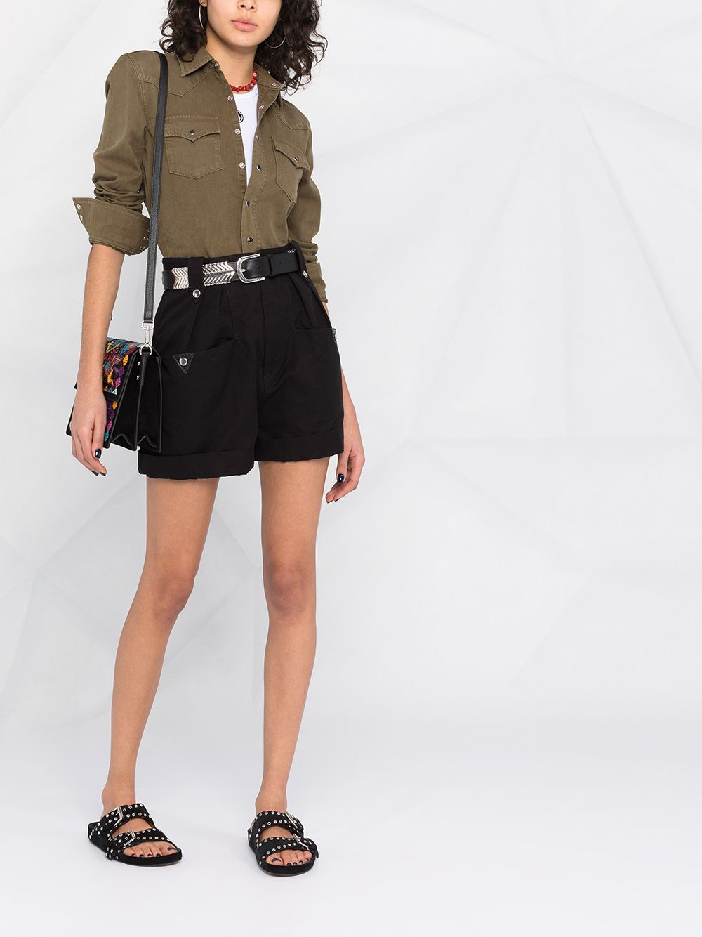 Picture of Saint Laurent | Snap-Fastening Western Shirt
