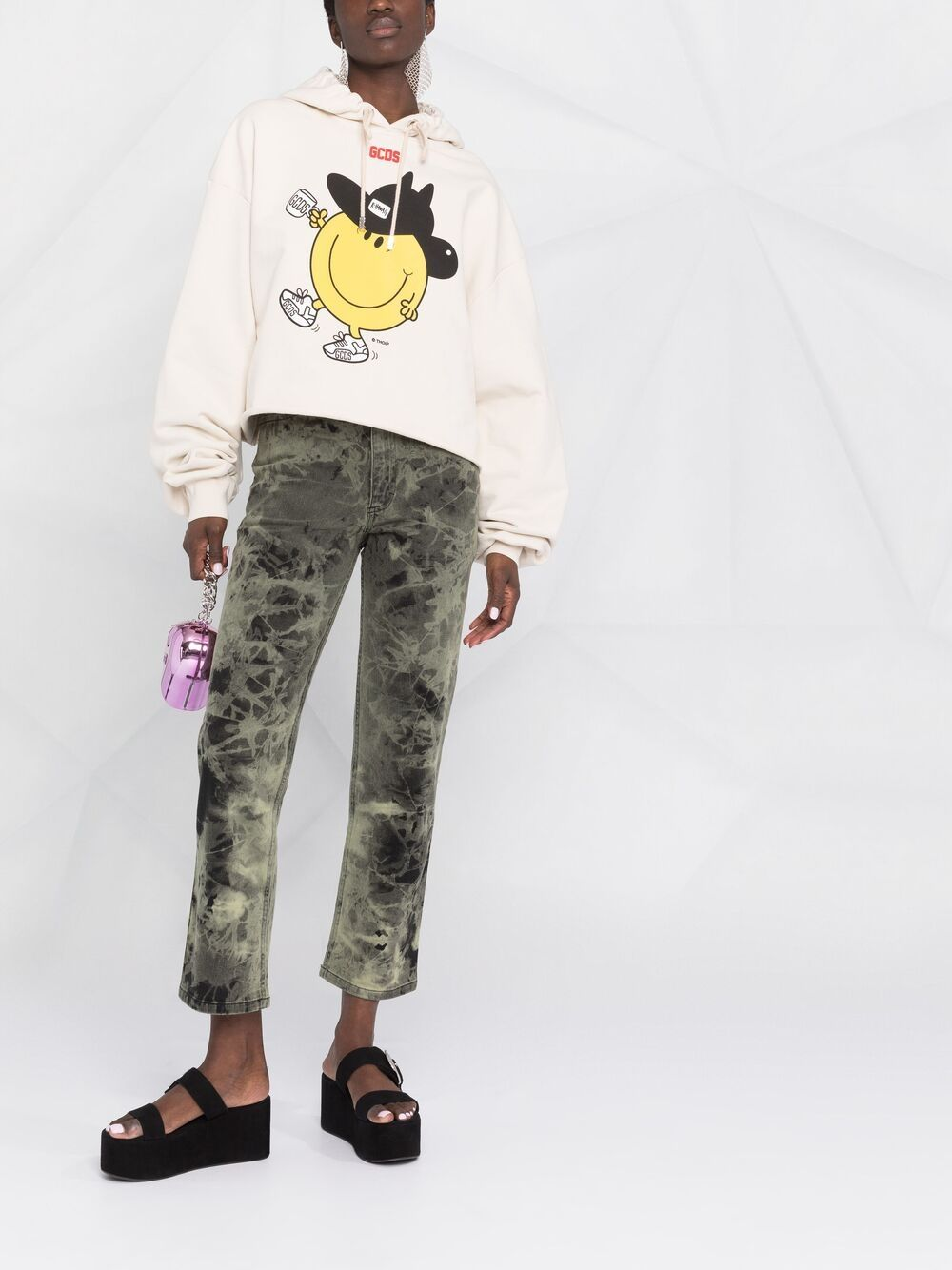 Picture of Gcds | Graphic-Print Cotton Hoodie