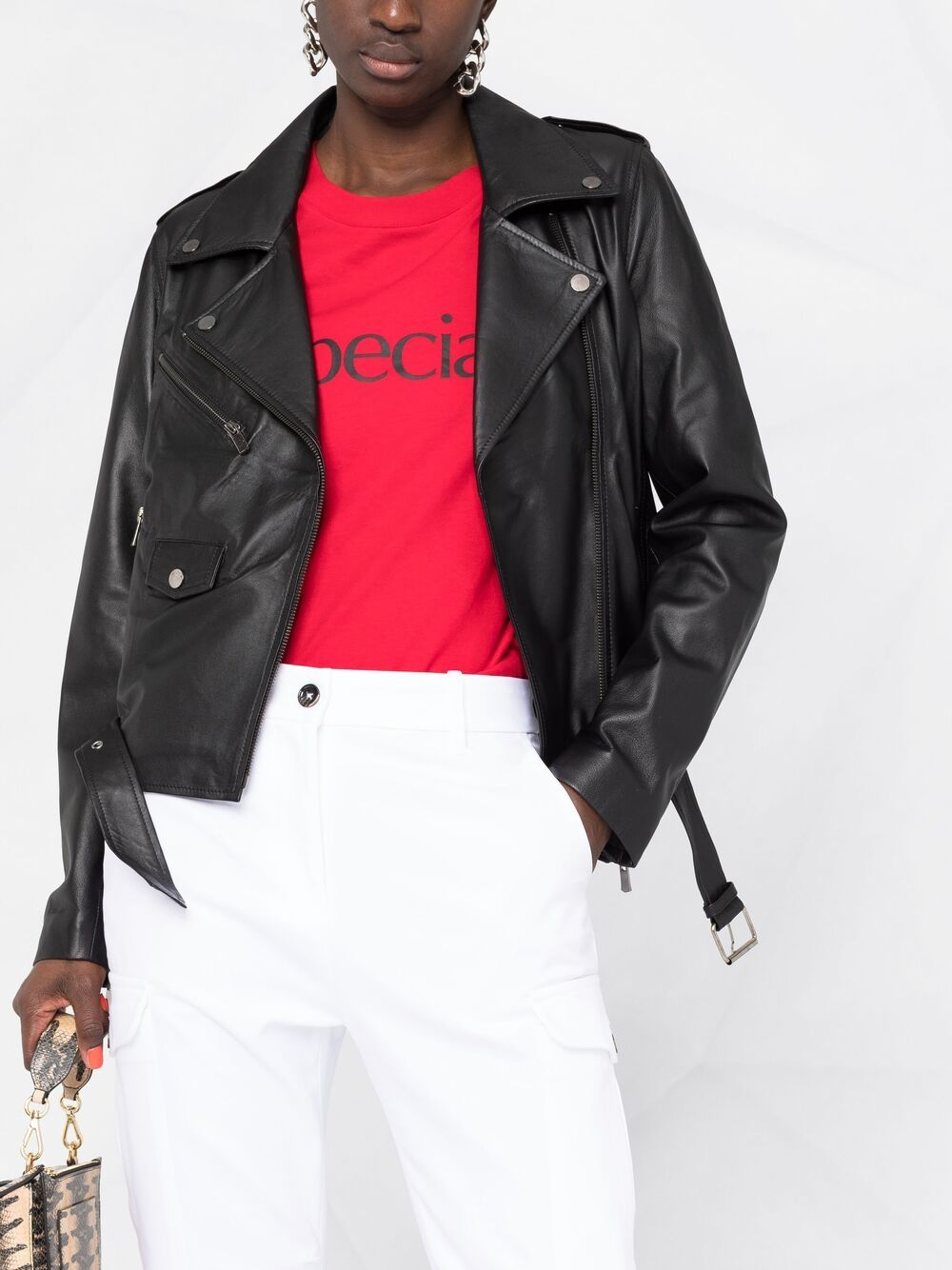 Picture of Arma | Zip-Up Biker Jacket