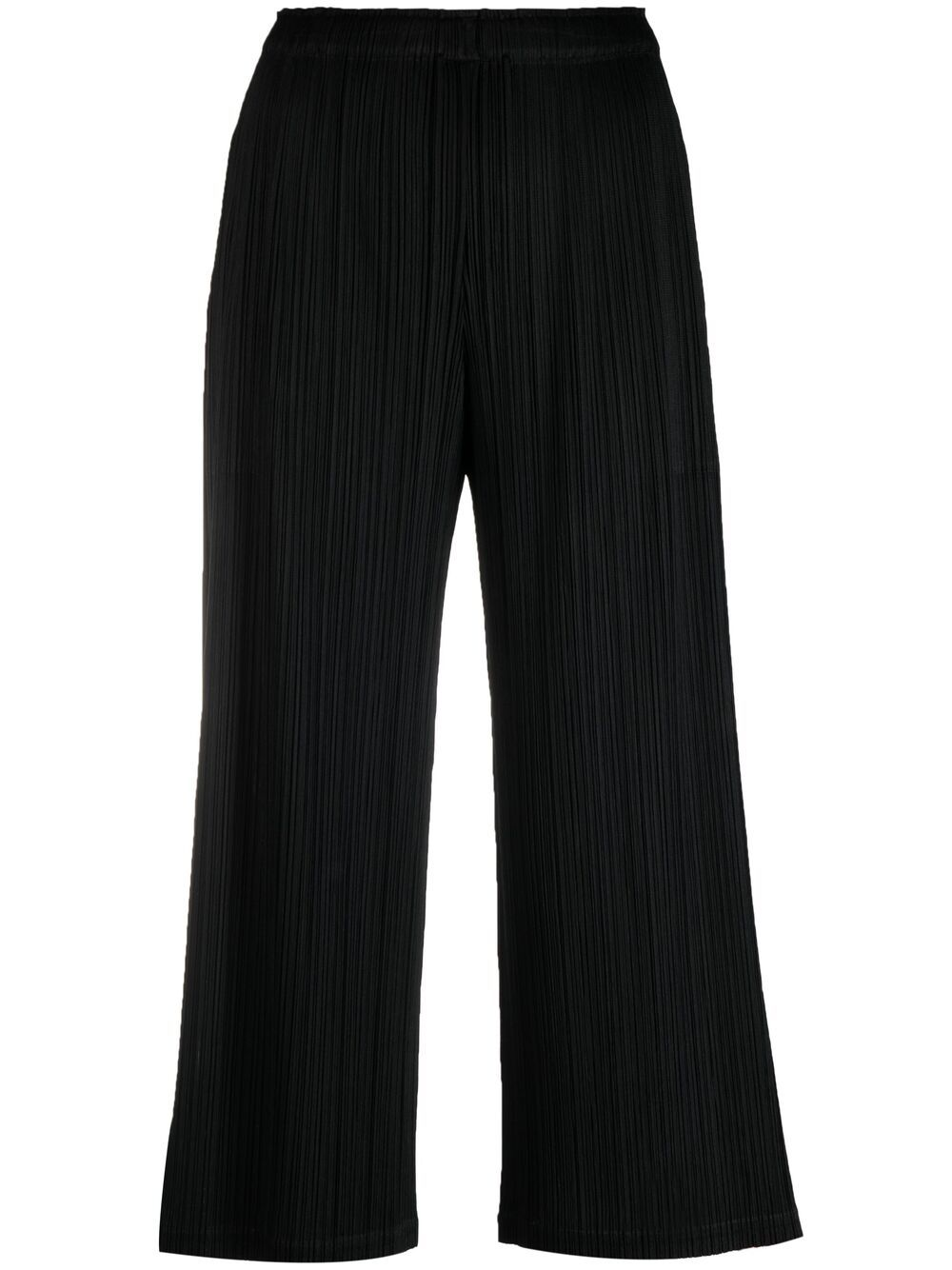 Picture of Issey Miyake Pleats Please | Plissé-Effect Cropped Trousers