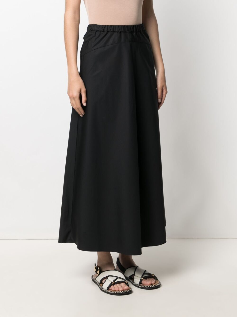 Picture of Aspesi | Elasticated Waistband Cotton Skirt