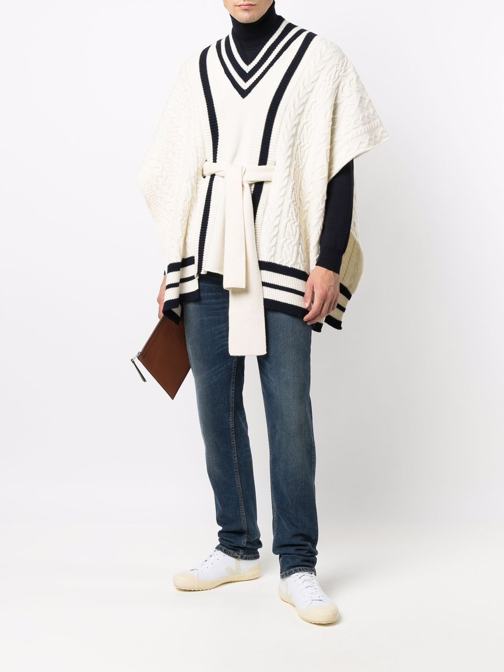 Picture of Golden Goose Deluxe Brand | Contrast-Trim Poncho Jumper