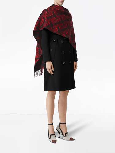 Picture of Burberry | Monogram Cashmere Jacquard Scarf