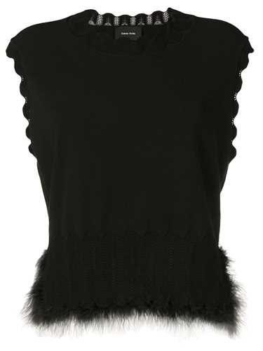 Picture of Simone Rocha | Feather Trim Tank Top