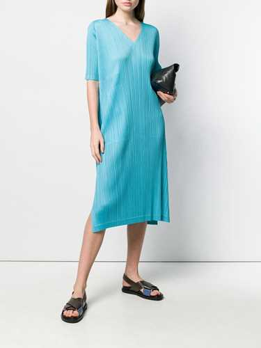 Picture of Issey Miyake Pleats Please | Pleated Flared Midi Dress