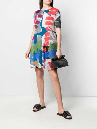 Picture of Issey Miyake Pleats Please | Colour-Block Flared Dress