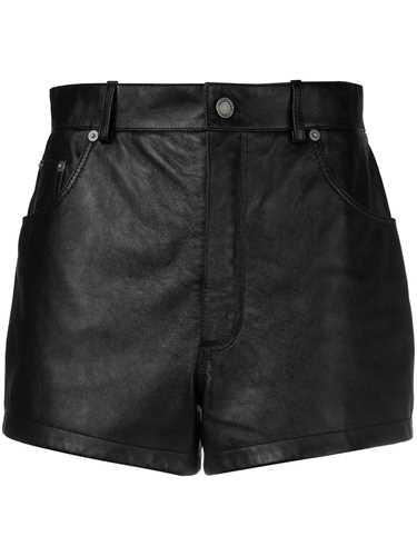 Picture of Saint Laurent | Short Leather Shorts