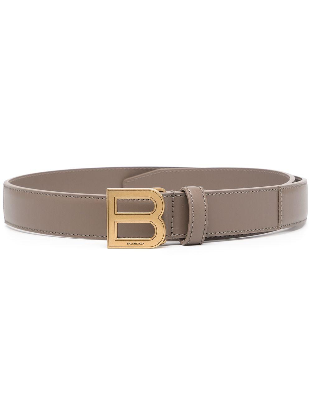 Picture of Balenciaga | Hourglass Logo-Plaque Belt
