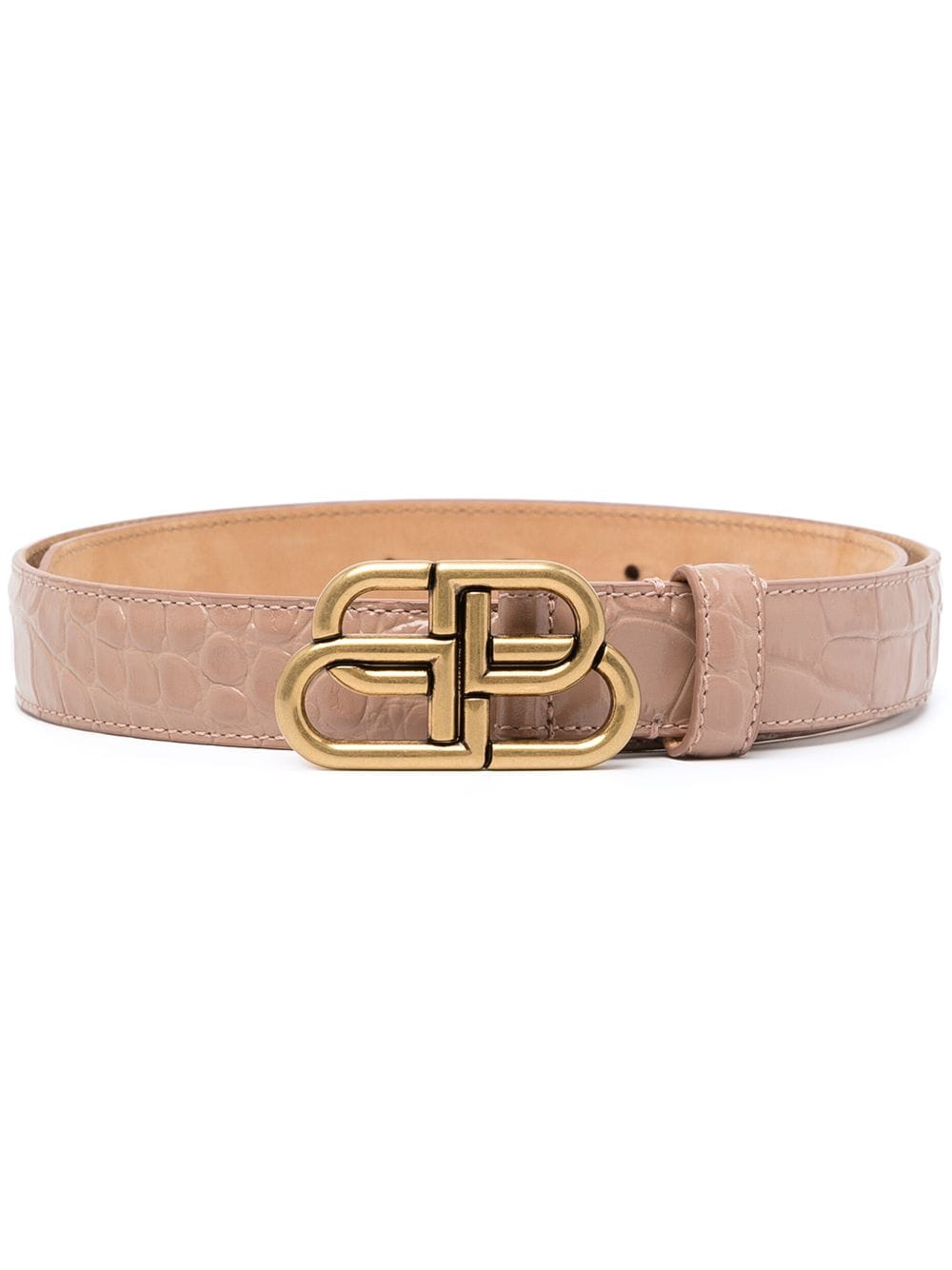 Picture of Balenciaga | Bb-Buckle Embossed Belt