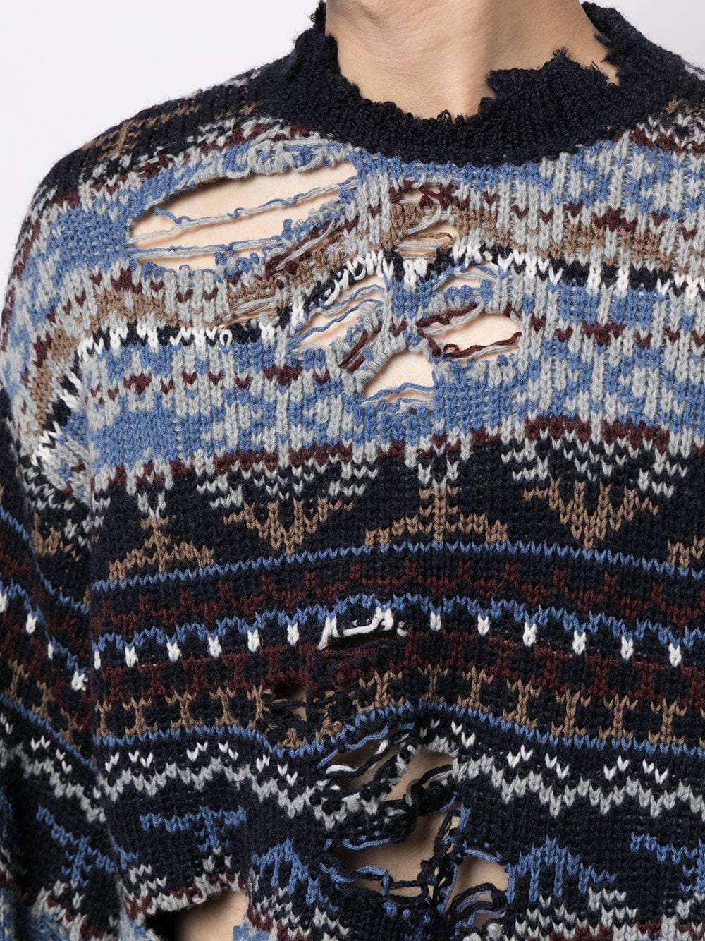 Picture of Balenciaga | Destroyed Sweater
