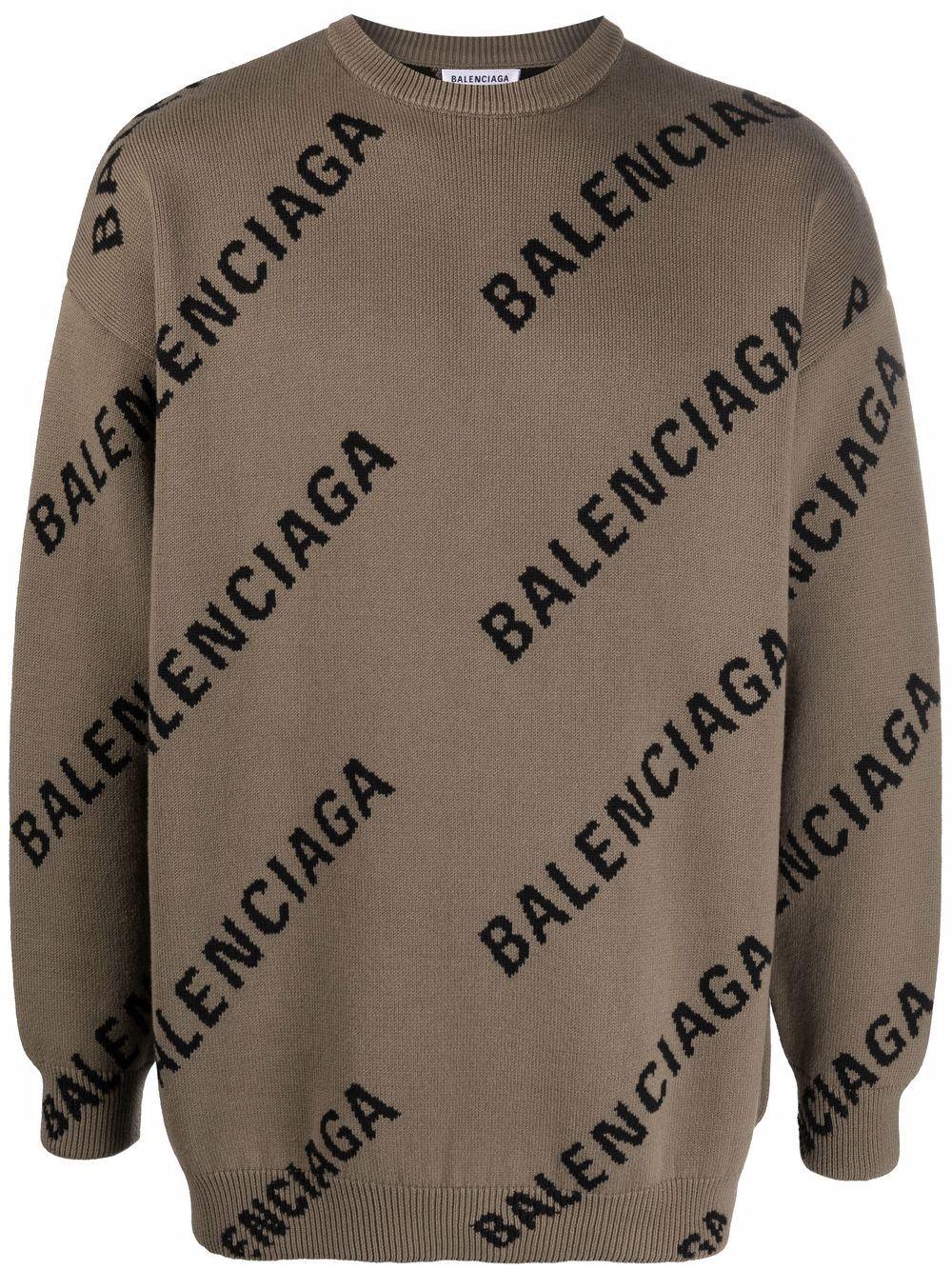 Picture of Balenciaga   Logo-Print Sweatshirt