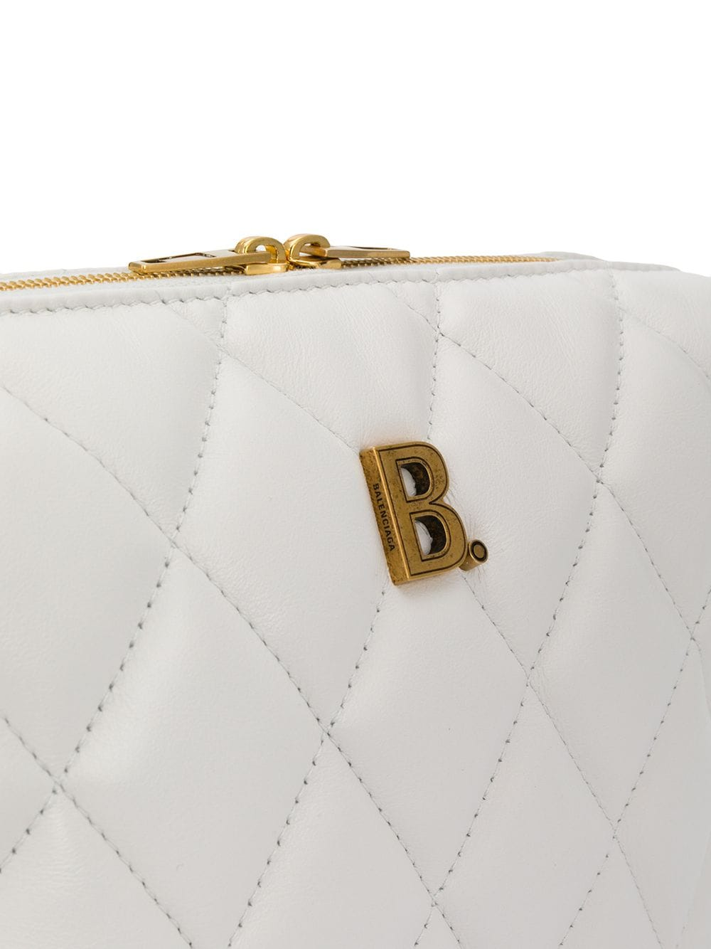 Picture of Balenciaga | Camera Quilted Leather Shoulder Bag