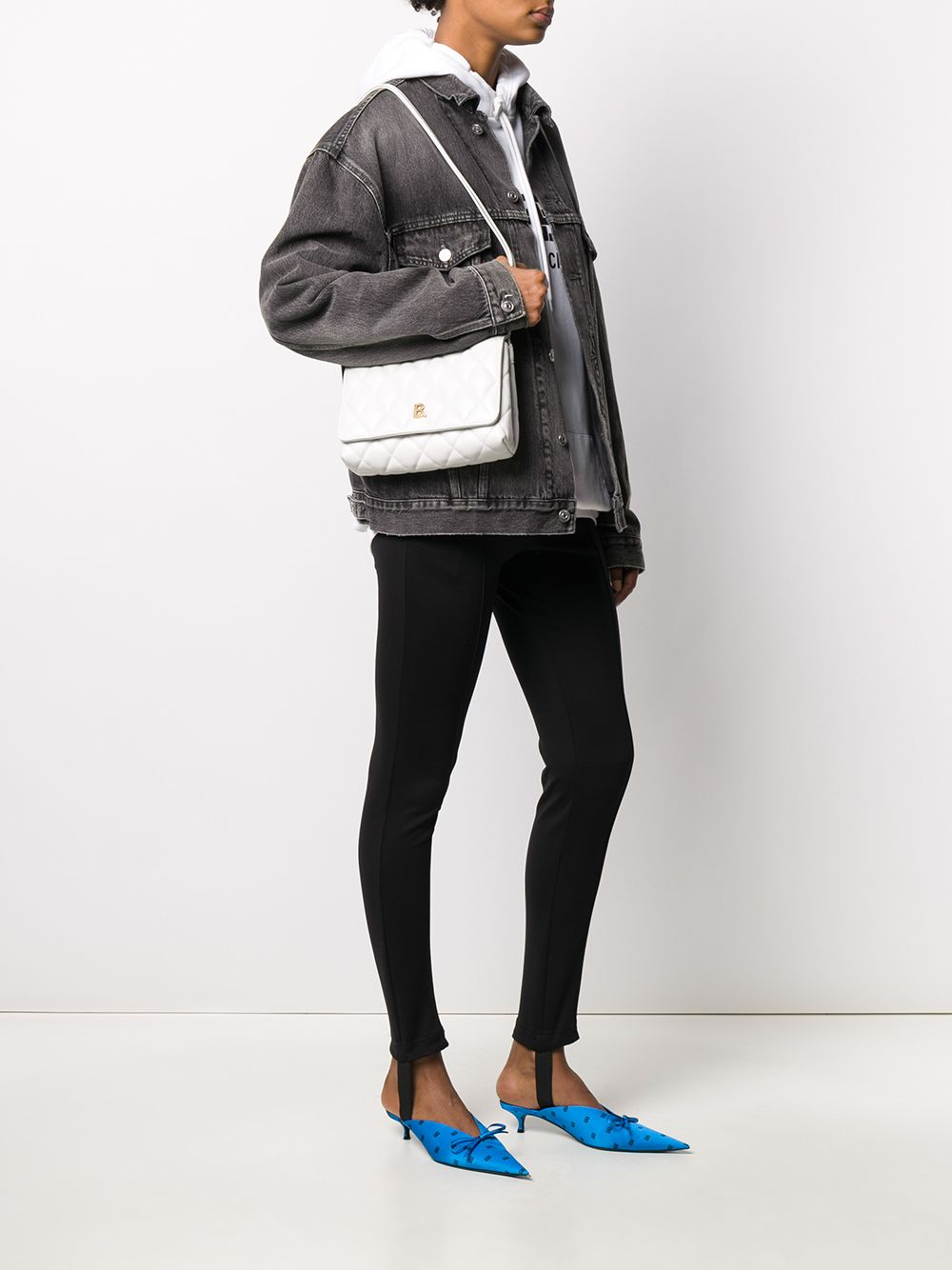 Picture of Balenciaga | Quilted B Shoulder Bag