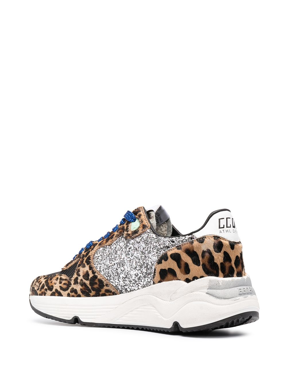 Picture of Golden Goose Deluxe Brand   Running Sole Glitter Sneakers