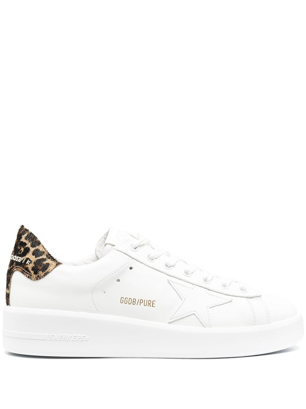 Picture of Golden Goose Deluxe Brand | Leopard Print-Detail Lace-Up Trainers