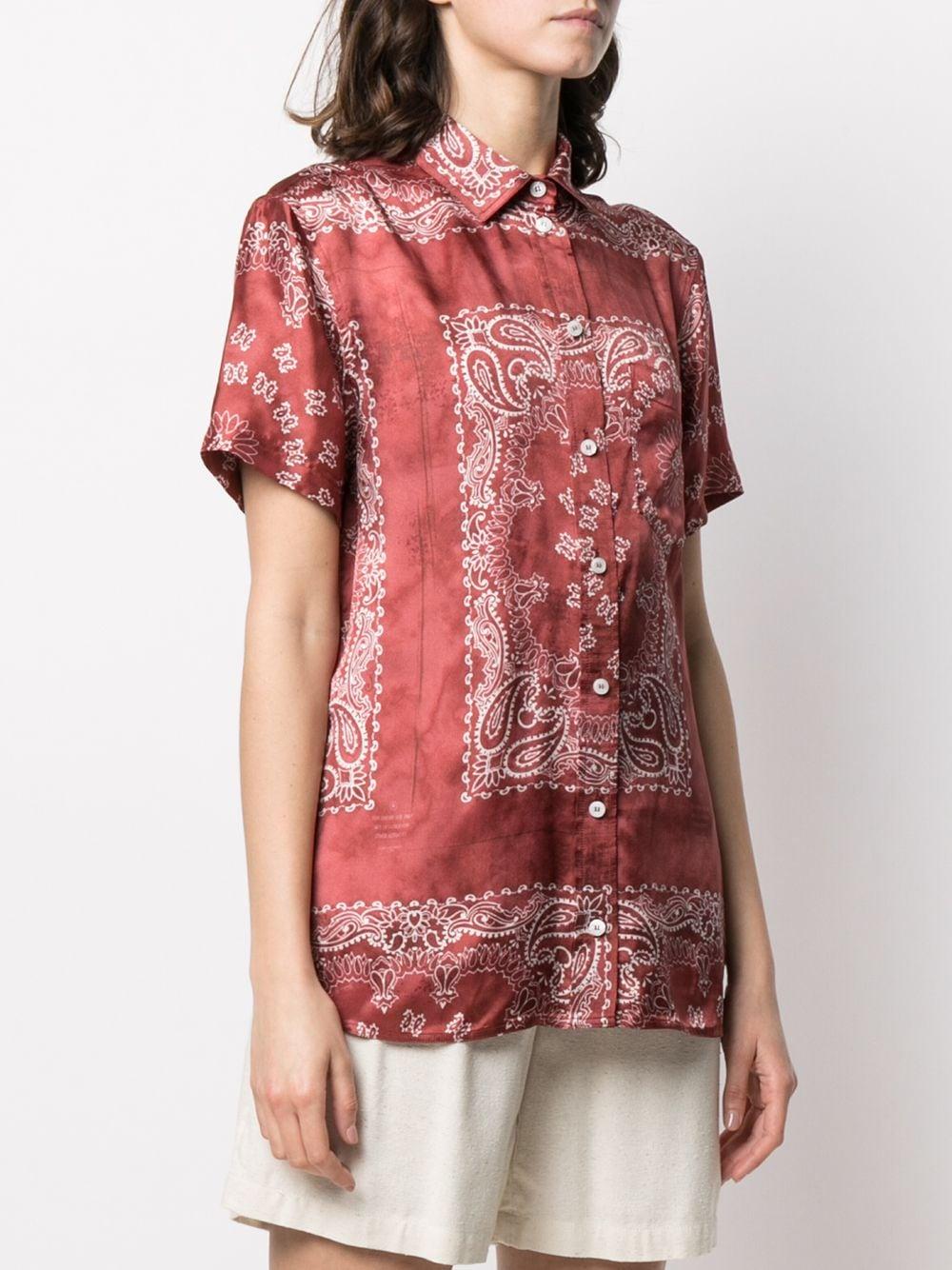 Picture of Golden Goose Deluxe Brand | Bandana Print Fluid Shirt