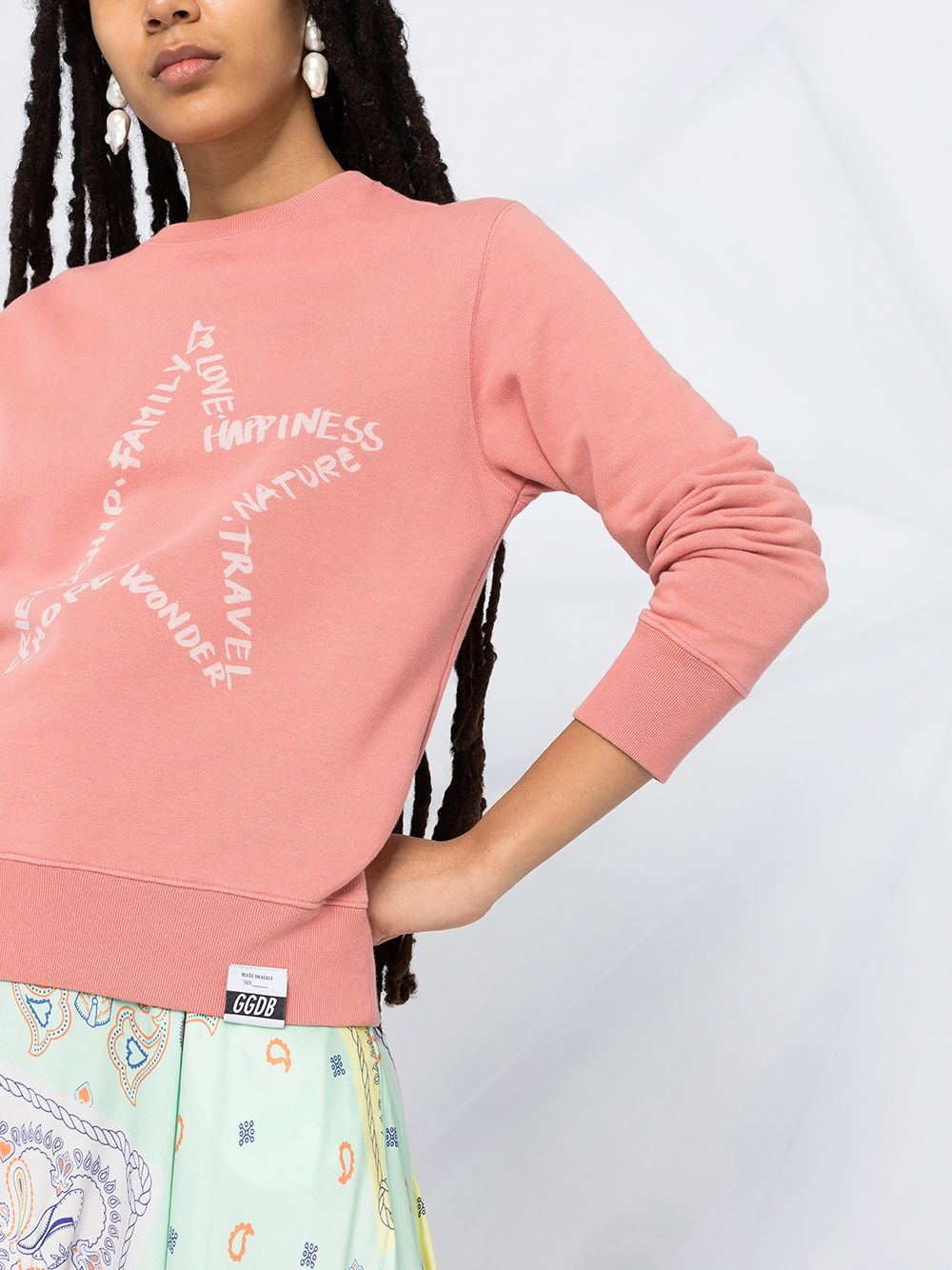 Picture of Golden Goose Deluxe Brand | Star-Motif Printed Sweatshirt