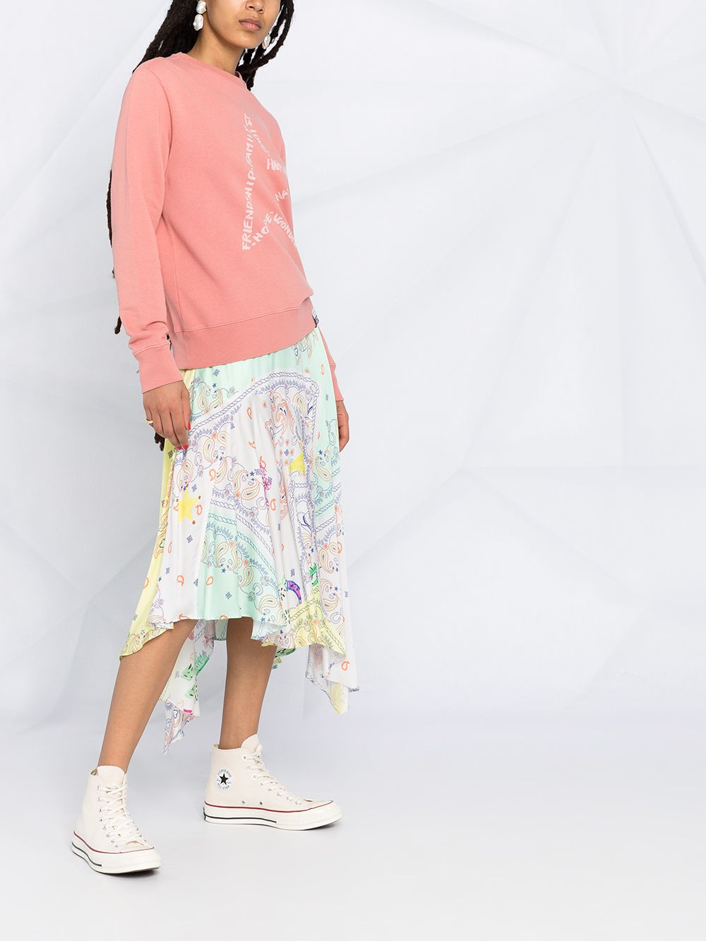 Picture of Golden Goose Deluxe Brand | Star-Motif Printed Sweatshirt