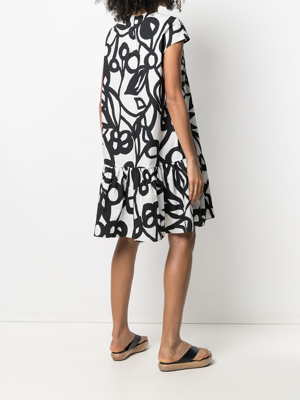 Picture of Aspesi | Floral-Print Short-Sleeved Dress