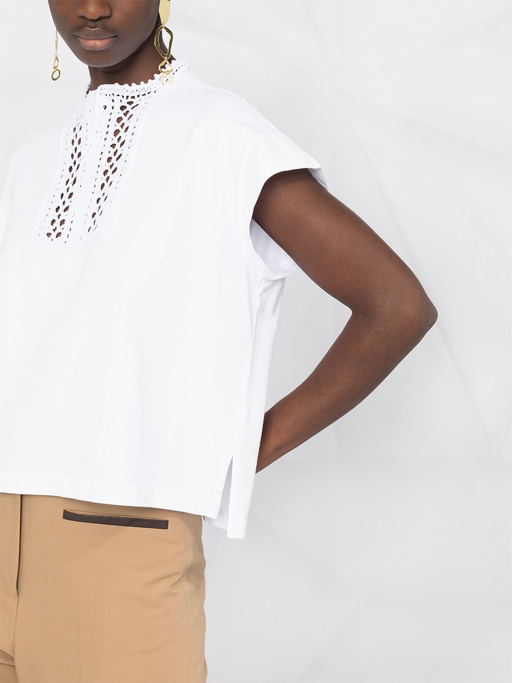 Picture of Forte_Forte | Embroidered Chest Details Blouse