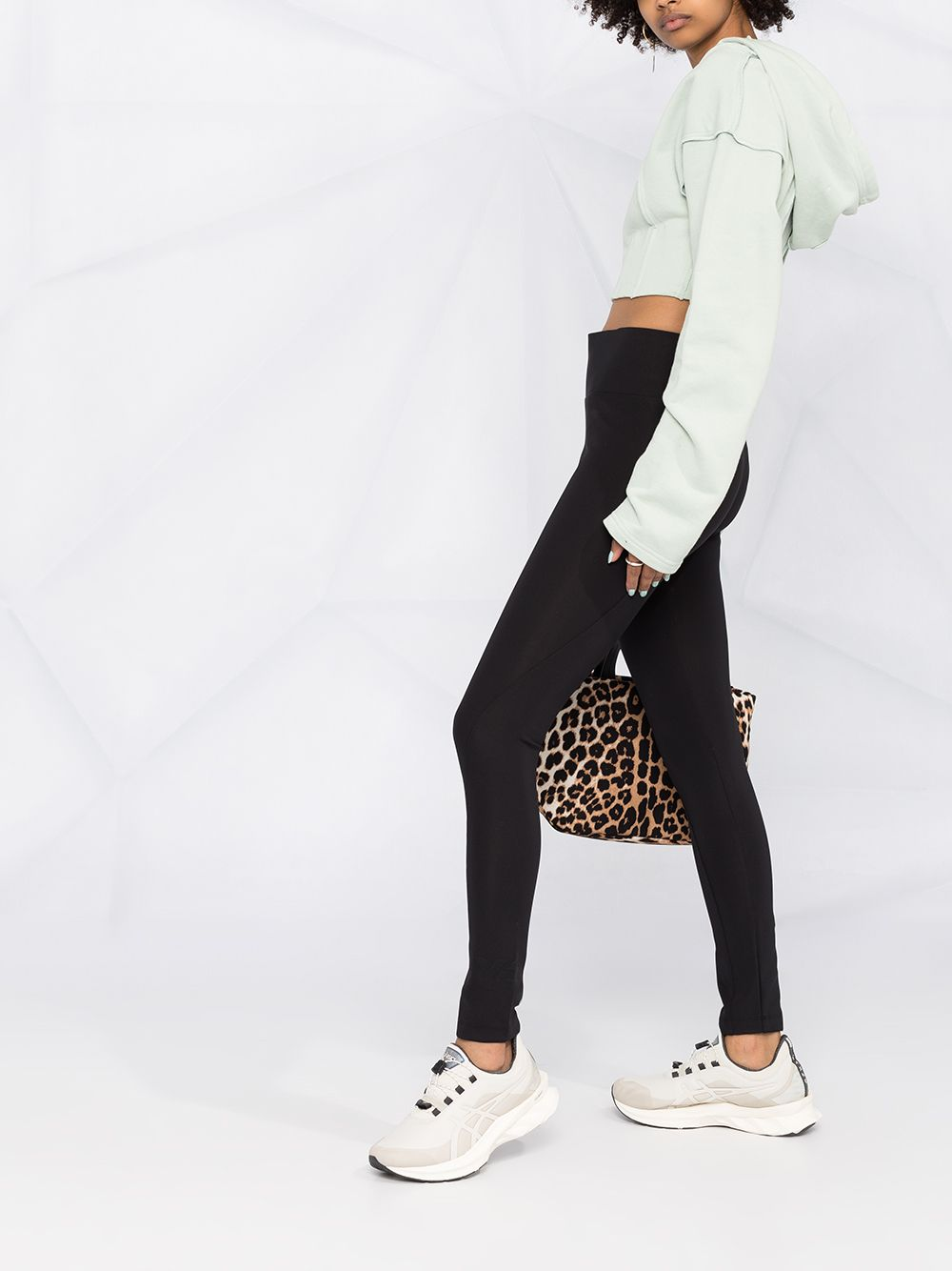 Picture of Adidas Y-3   Logo-Print Stretch-Fit Leggings