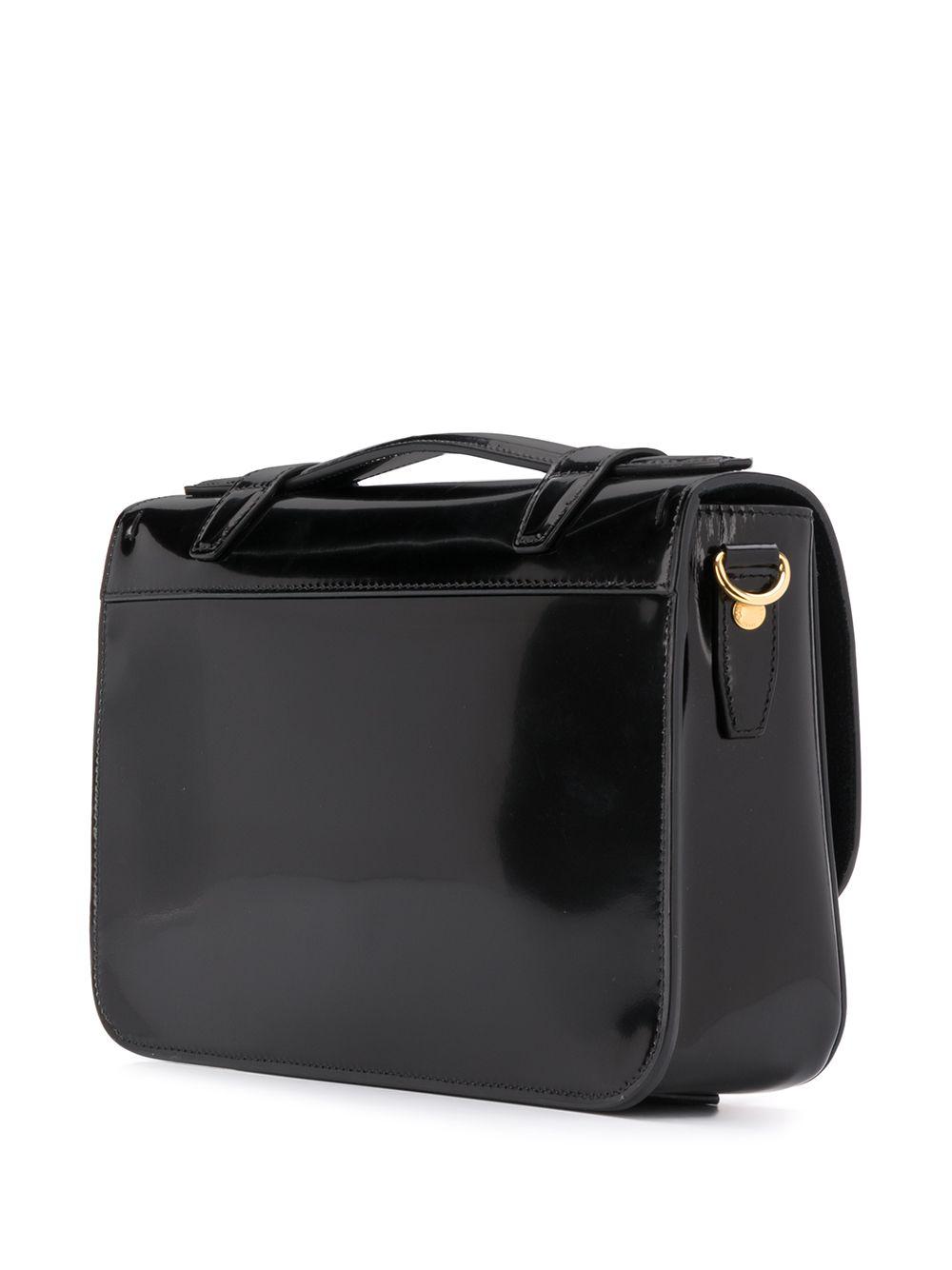 Picture of Saint Laurent | Patent Leather Buckle Shoulder Bag