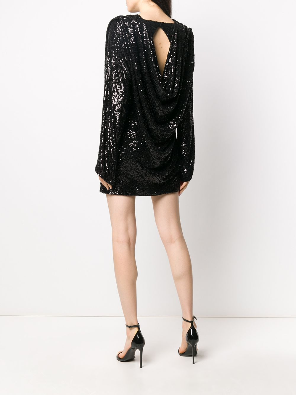 Picture of Nervi | Sequined Draped Cocktail Dress