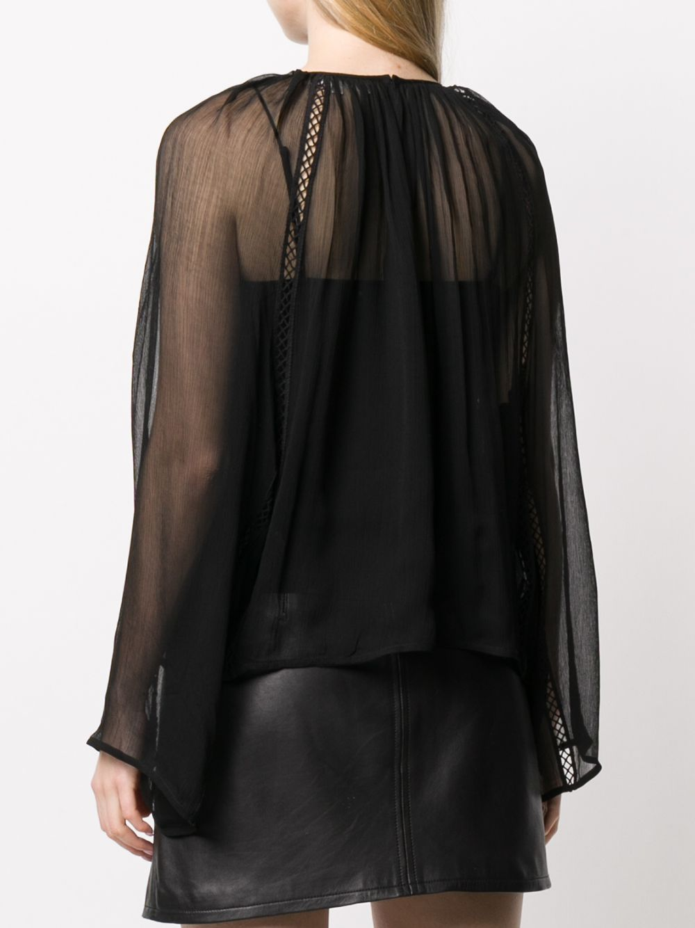 Picture of Mcq | Embroidered Sheer Blouse