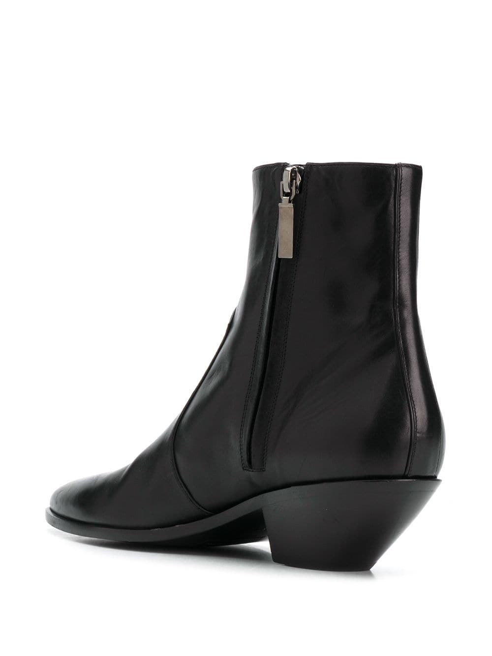 Picture of Saint Laurent | West 45 Leather Ankle Boots