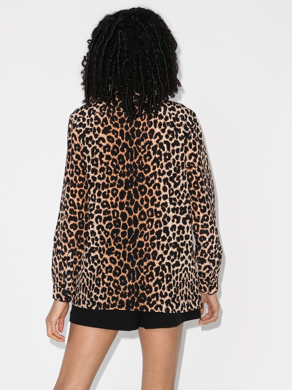 Picture of Saint Laurent | Leopard Print Blouse