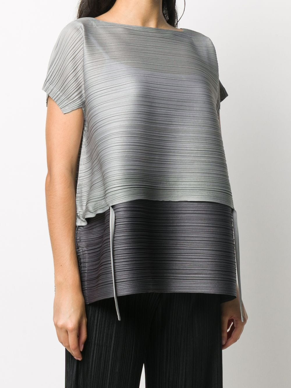 Picture of Issey Miyake Pleats Please | Plissé Pleated Layered Top