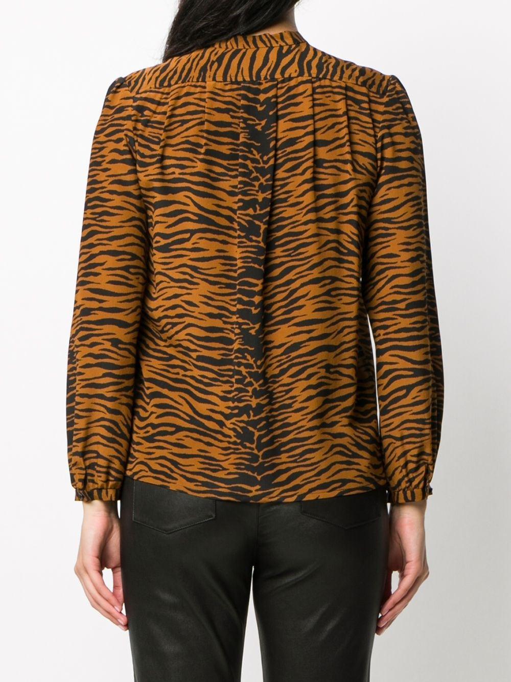Picture of Saint Laurent | Tiger Print Blouse
