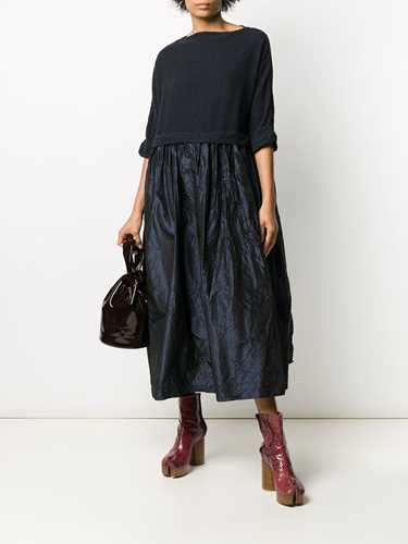 Picture of Daniela Gregis | Short-Sleeve Flared Midi Dress