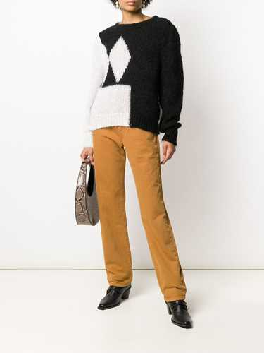 Picture of Alexa Chung   Contrast Long-Sleeve Sweater