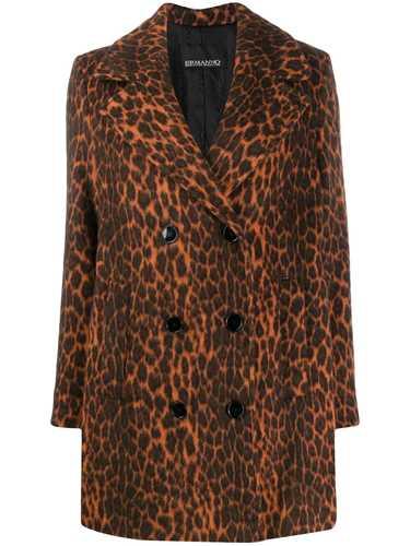 Picture of Ermanno Ermanno | Short Leopard Print Coat