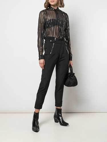 Picture of R T A | Leon High-Rise Cropped Trousers