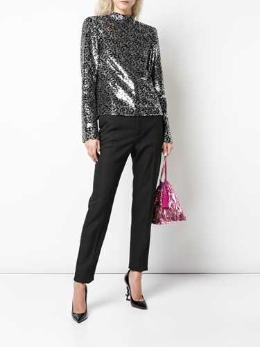 Picture of R T A | Leopard-Print Sequin Top