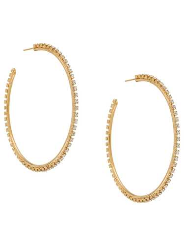 Picture of Gcds | Crystal Embellished Hoop Earrings