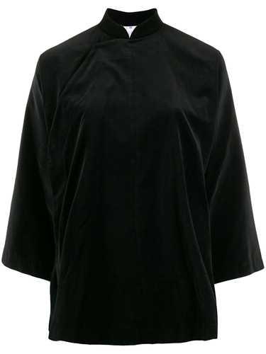 Picture of Comme Comme | Mandarin Collar Velvet Shirt