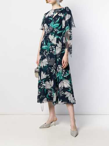 Picture of Erdem | Floral Print Silk Dress