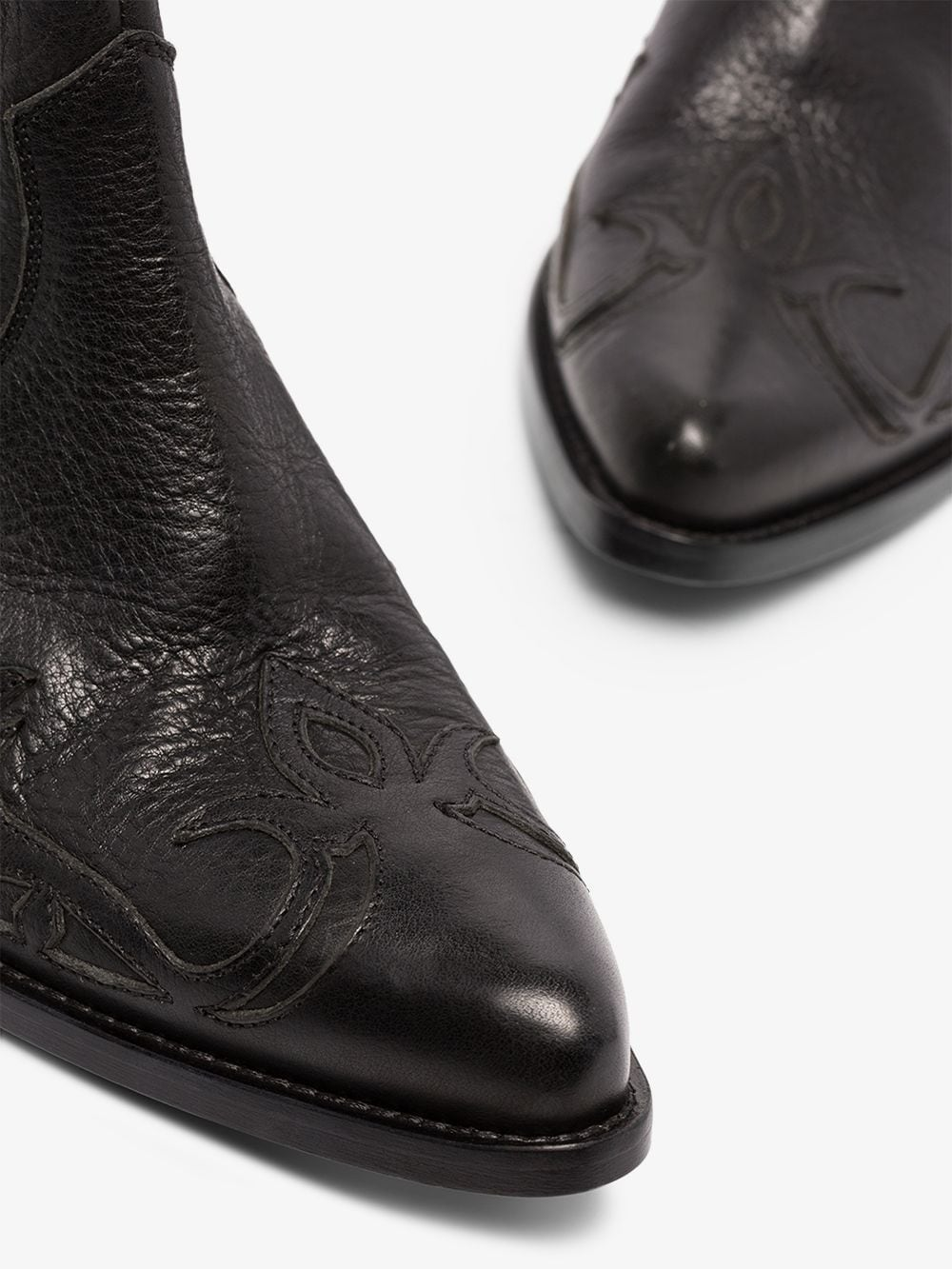 Picture of Golden Goose Deluxe Brand | Santiago 44 Western Ankle Boots
