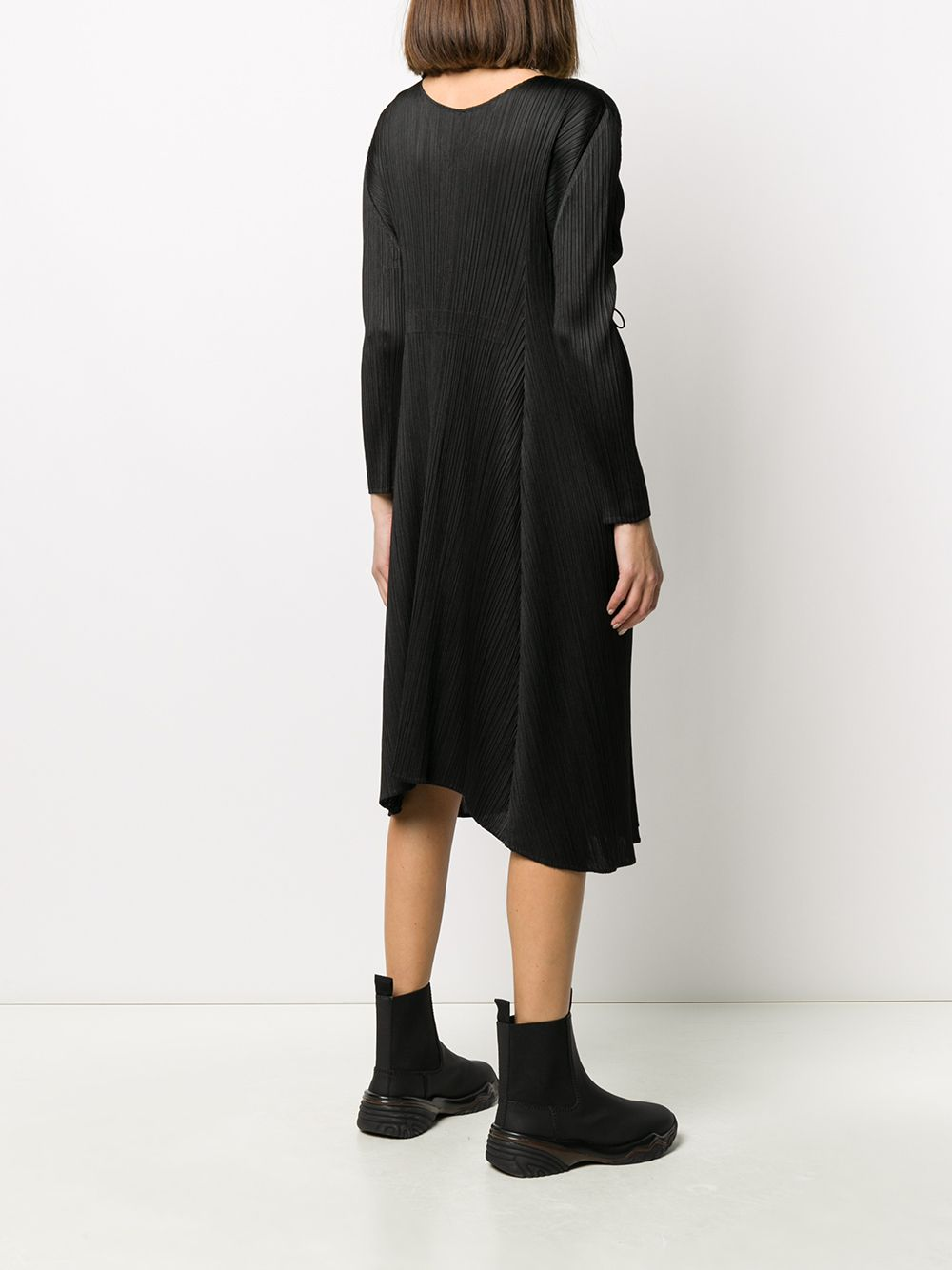 Picture of Issey Miyake Pleats Please | Back Cord-Tie Pleated Midi Dress