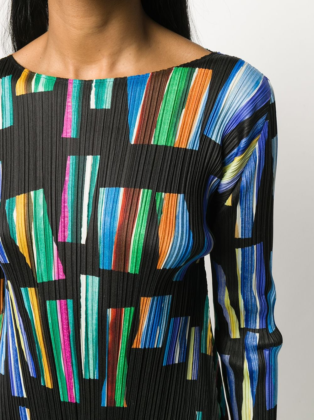 Picture of Issey Miyake Pleats Please   Hopscotch Colours Mini Dress