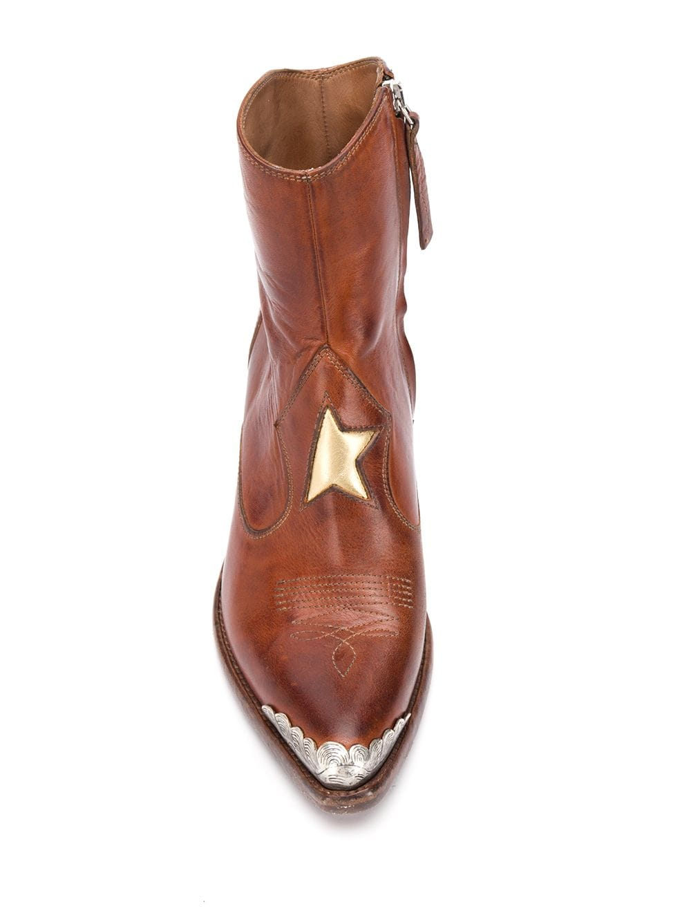 Picture of Golden Goose Deluxe Brand | Nora Star-Patch Ankle Boots